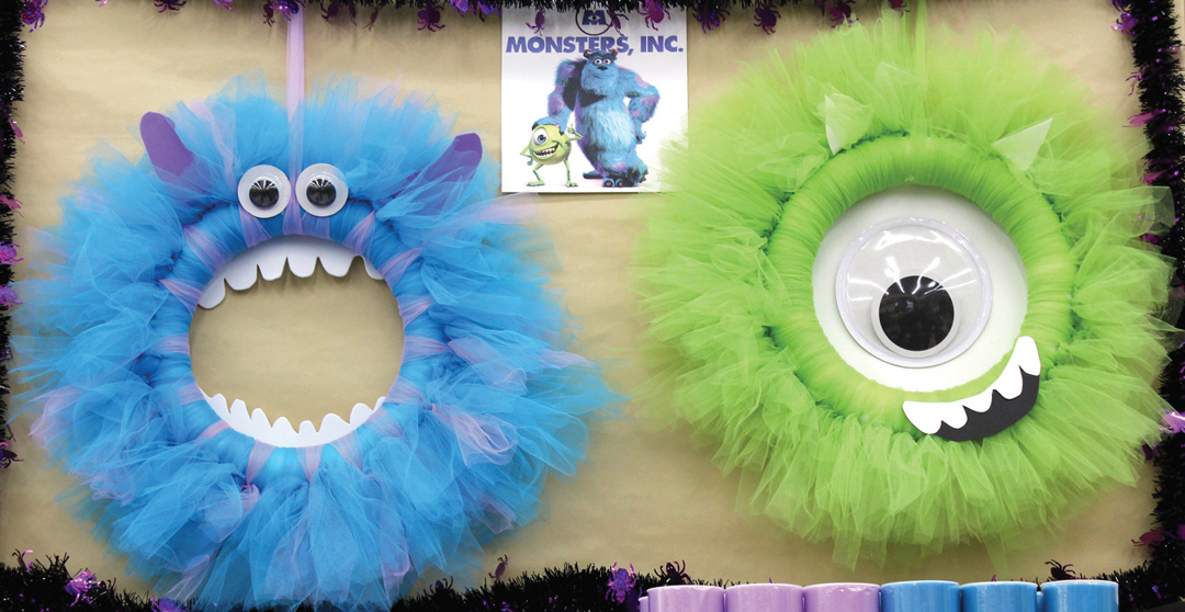 monsters inc craft ideas monsters inc tulle wreaths crafts direct 4988